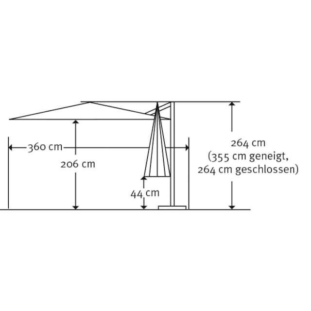 SCHNEIDER SCHIRME Ampelschirm »Rhodos Twist Bianco«