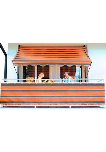 Angerer Freizeitmöbel Balkonsichtschutz, Meterware, orange-braun, H: 90 cm kaufen