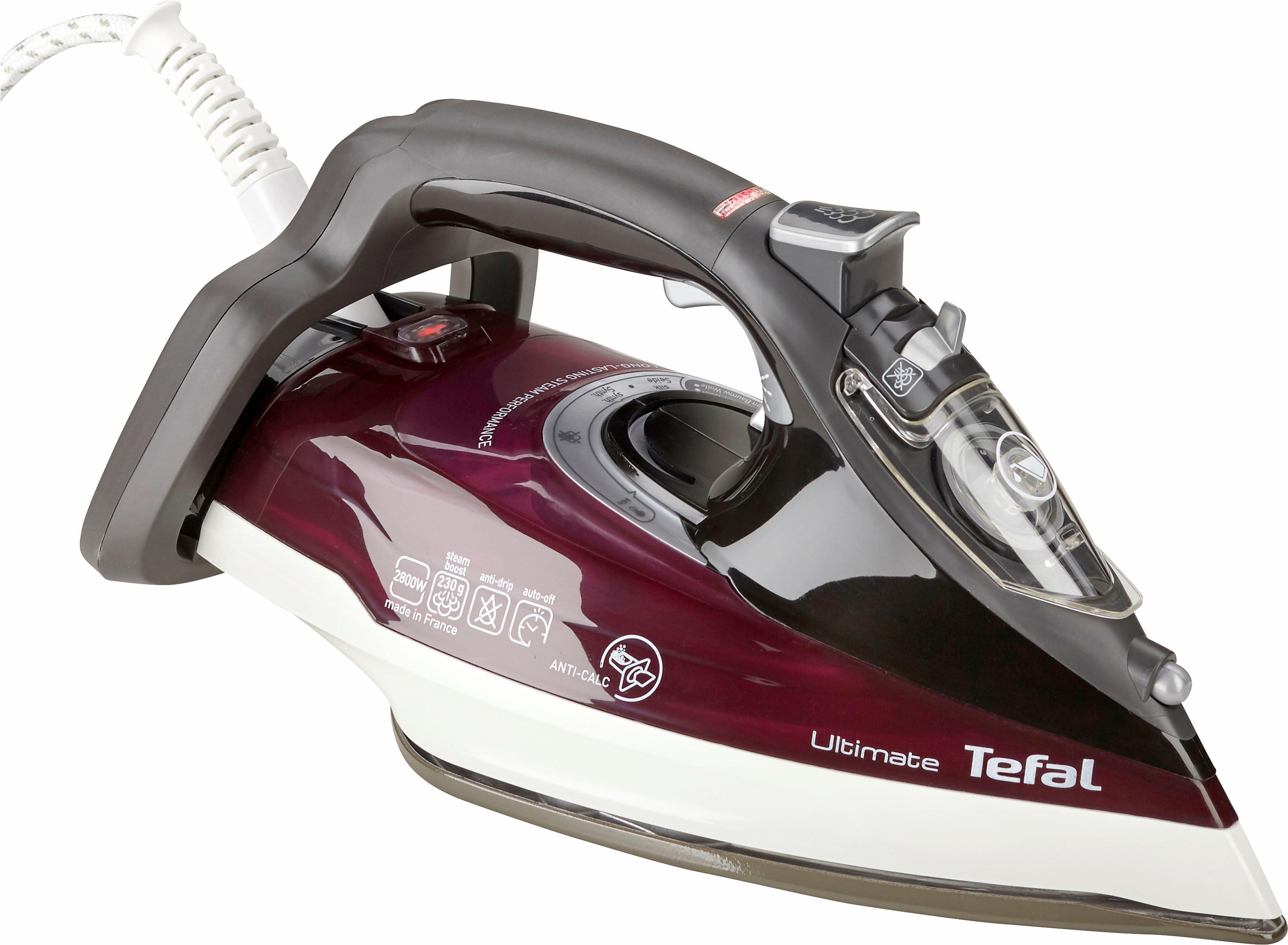 Tefal Dampfbügeleisen FV9740 Ultimate Anticalc, 2800 Watt | Flur & Diele > Haushaltsgeräte > Bügeleisen | Lila | TEFAL