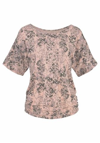 LASCANA Rundhalsshirt, mit seitlicher Raffung am Saum kaufen