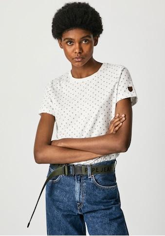 Pepe Jeans Print-Shirt »NEW VIRGINIA«, mit floralem allover Print und kleinem... kaufen