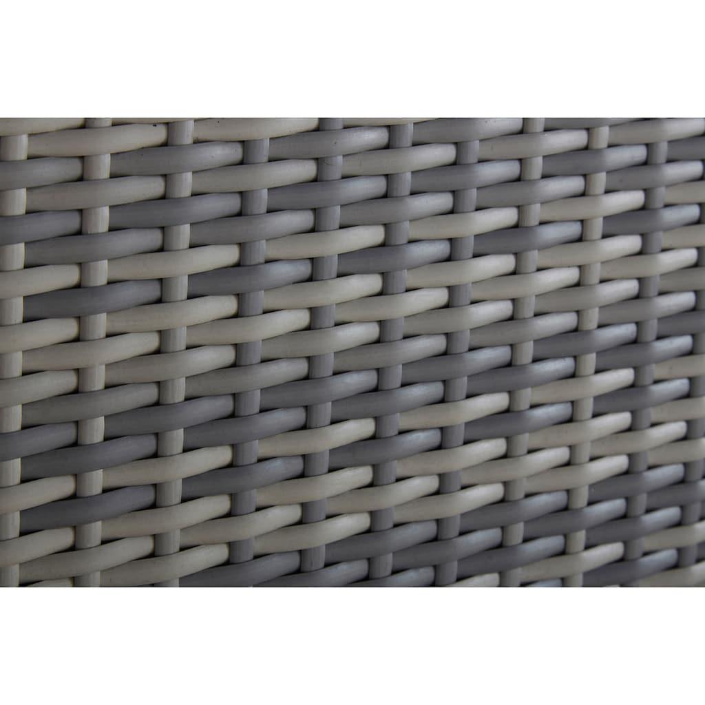 KONIFERA Loungeset »Catania«, (12 tlg.), Eckbank, Hocker, Tisch 100x59 cm, Polyrattan