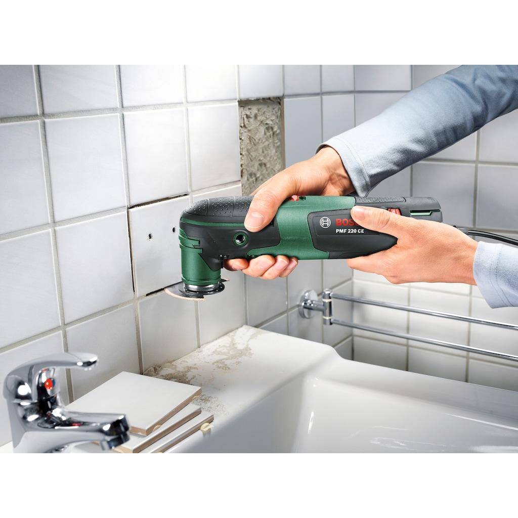 Bosch Powertools Elektro-Multifunktionswerkzeug »PMF 220 CE«, inkl. Zubehör und Kunststoffkoffer