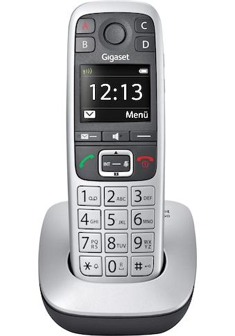 Gigaset Schnurloses DECT-Telefon »E560«, (Mobilteile: 1 ), Weckfunktion, Freisprechen kaufen