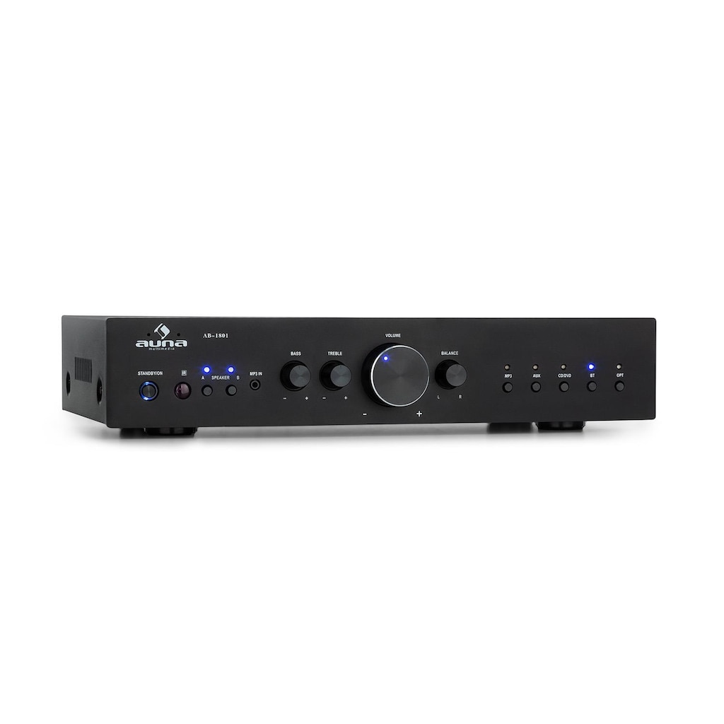 Auna HiFi-Stereo-Verstärker 4x100W RMS BT Dig-Opt-In