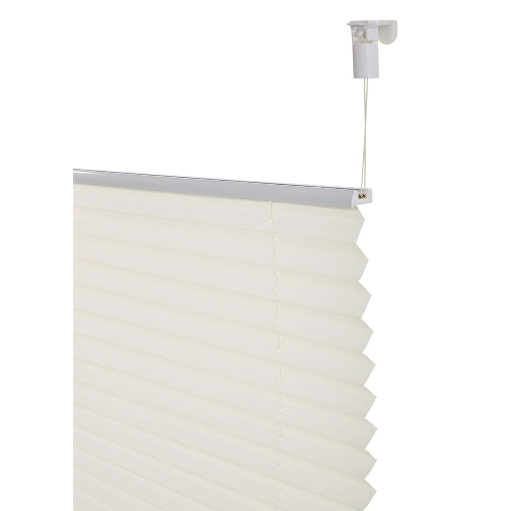 my home Plissee »Leif«, Lichtschutz, ohne Bohren, verspannt, im Fixmaß