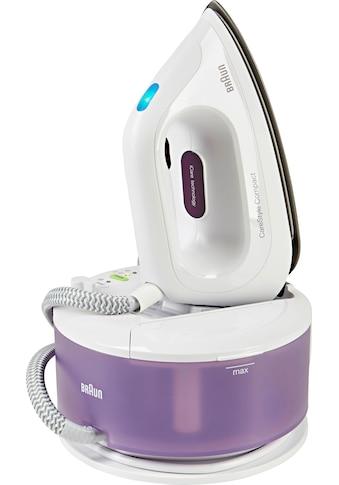 Braun Dampfbügelstation »CareStyle Compact IS 2044, lila«, max. Dampfmenge 300g/min, Rückwärtsbügeln über Knöpfe kaufen