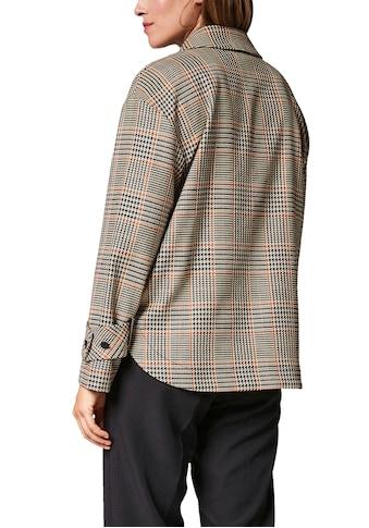 Comma Hemdjacke, mit Hahnentrittmuster - Modetrend Shaket kaufen