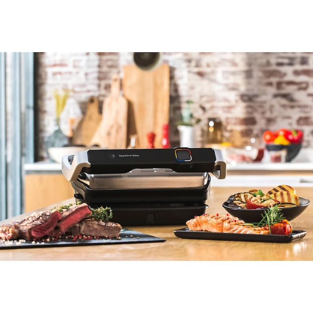 Tefal Kontaktgrill GC750D OptiGrill Elite, 2000 Watt