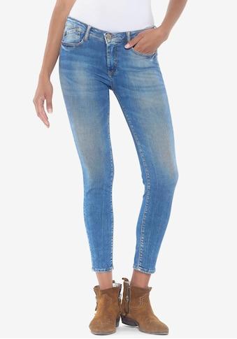 Le Temps Des Cerises Ankle-Jeans »POWERC«, verkürzte Cropped Form mit coolen Usedeffekten kaufen