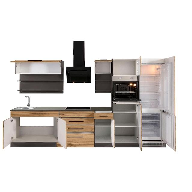 HELD MÖBEL Küchenzeile »Tulsa«, mit E-Geräten, Breite 330 cm