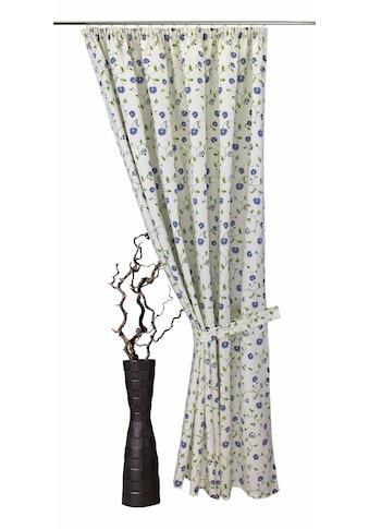 VHG Vorhang »Kati«, Leinenoptik, Blumen, Ranke kaufen