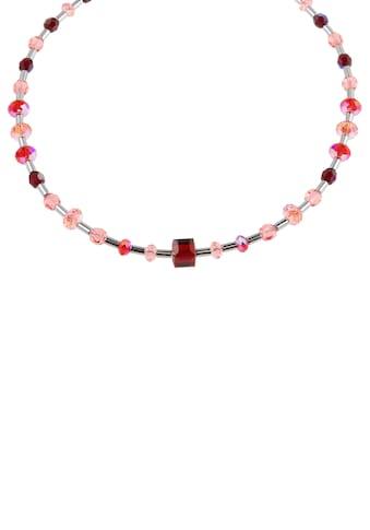 Firetti Collier »Würfel und Zwischenelemente, Glanz, massiv«, mit Swarovski-Kristallen... kaufen