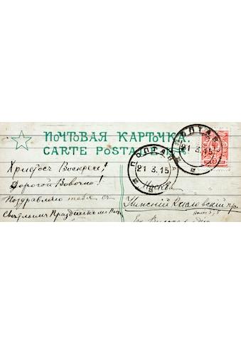 QUEENCE Holzbild »Vintage - Brief«, 40x80 cm Echtholz kaufen