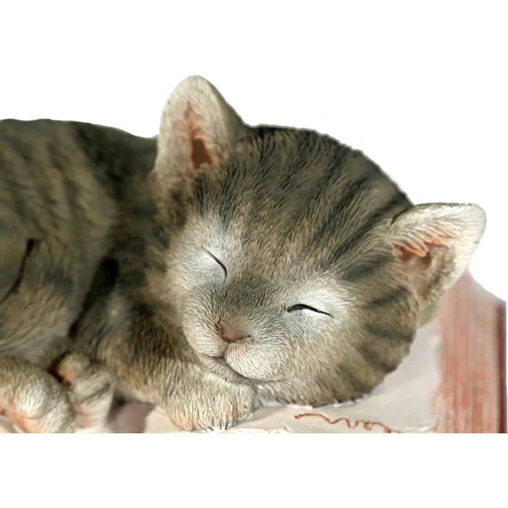 Casa Collection by Jänig Tierfigur »Katze schlafend auf Buch«