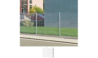 GAH Alberts Doppelstabmattenzaun, Anbauset 80 cm hoch, 1 Matte 2 m, 1 Pfosten kaufen
