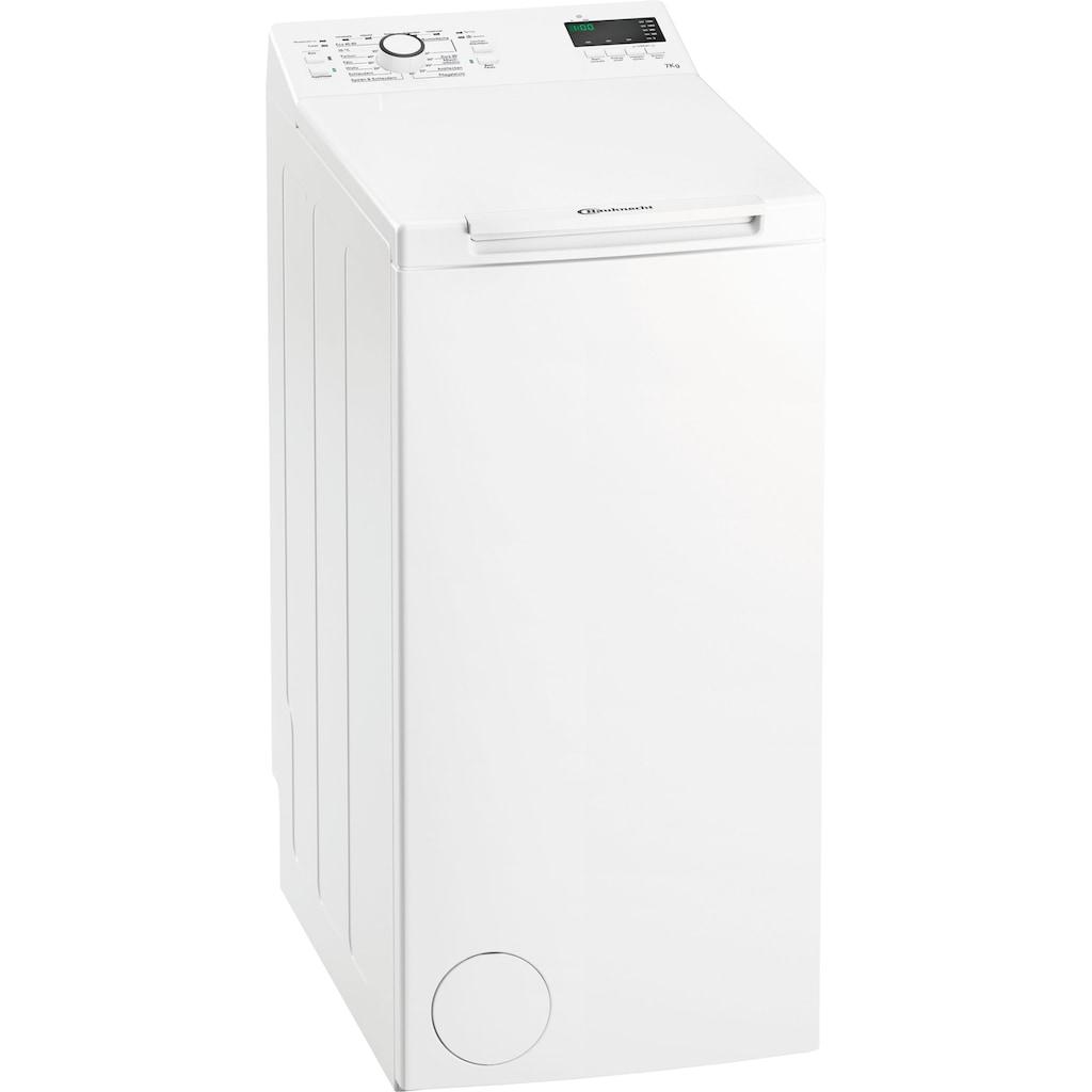 BAUKNECHT Waschmaschine Toplader, WMT EcoStar 732 Di N, 7 kg, 1200 U/min