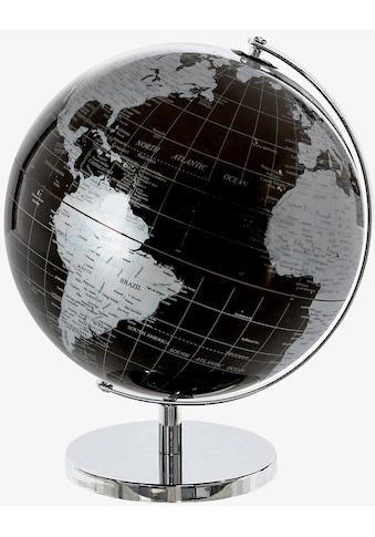 Casablanca by Gilde Dekoobjekt »Globus World, groß, schwarz/silberfarben«, Ø 25 cm, Wohnzimmer kaufen