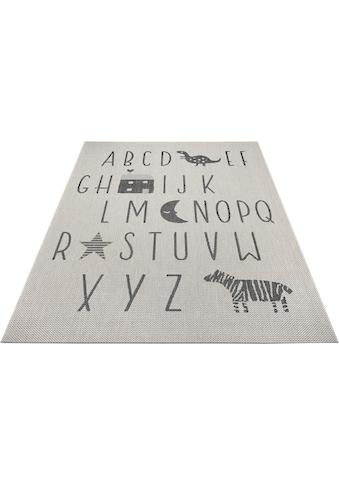 Lüttenhütt Kinderteppich »Alphabet«, rechteckig, 3 mm Höhe, In- und Outdoor geeignet kaufen