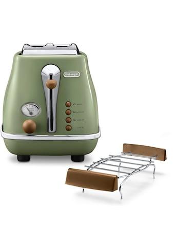 De'Longhi Toaster »Incona Vintage »CTOV 2103.BG««, 900 Watt kaufen