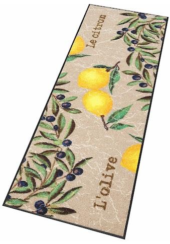 wash+dry by Kleen-Tex Küchenläufer »Le Citron«, rechteckig, 7 mm Höhe, In- und Outdoor... kaufen