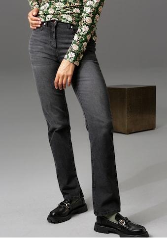 Aniston CASUAL Straight-Jeans, regular waist - NEUE KOLLEKTION kaufen