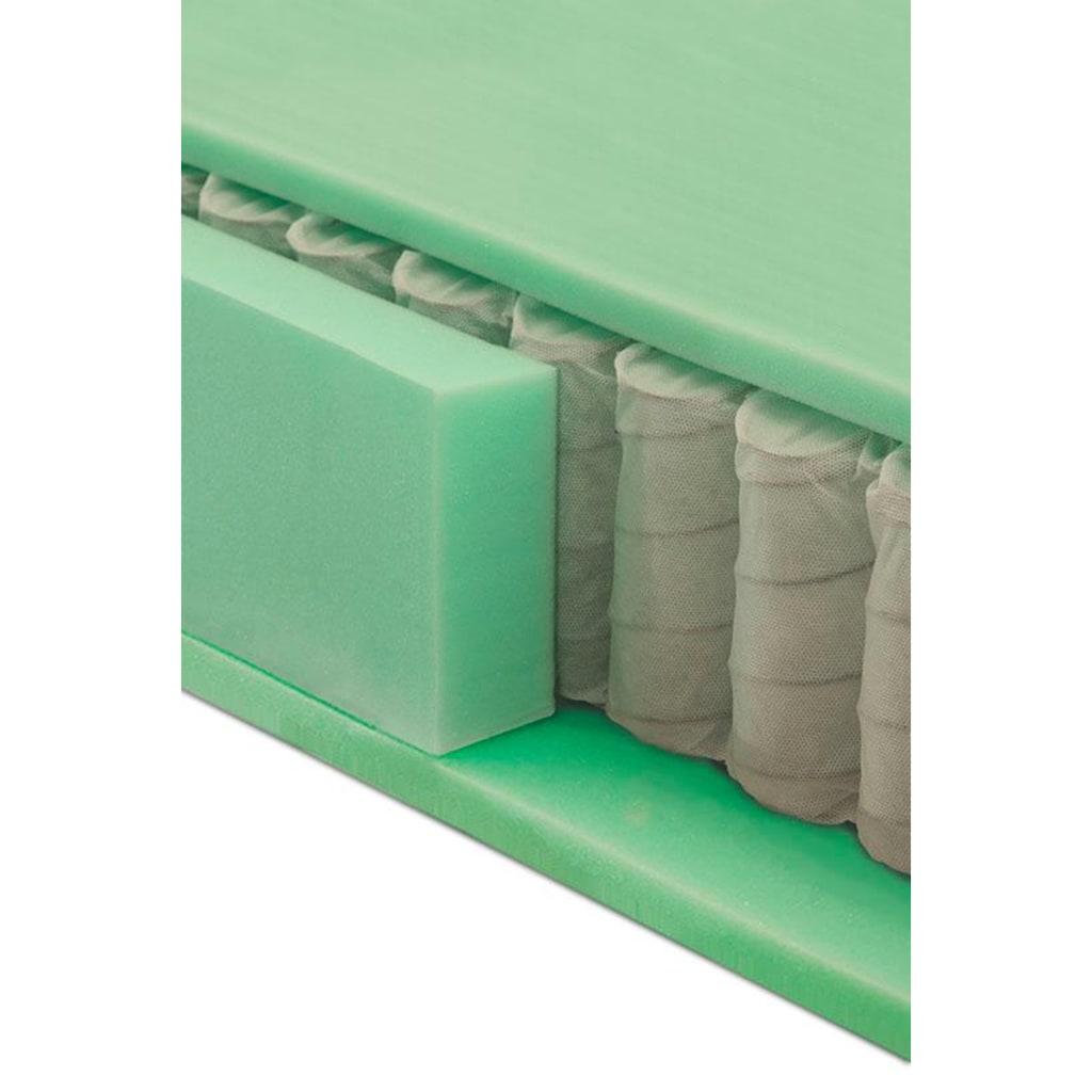 grüne betten Boxspringbett »Luisa«, mit Tonnentaschenfederkern-Matratze, Topper und Zierkissen, 100% vegan