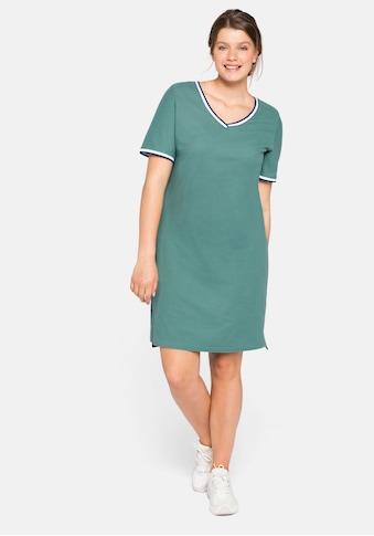 Sheego Shirtkleid, in Pique-Qualität kaufen