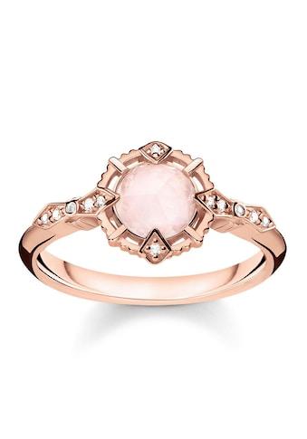 "THOMAS SABO Diamantring »Ring ""Vintage rosa"", D_TR0043-925-26-48, 50, 52, 54, 56, 58, 60«, mit Diamanten und Rosenquarz kaufen"