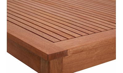 MERXX Gartentisch »Montana«, Eukalyptusholz, braun kaufen
