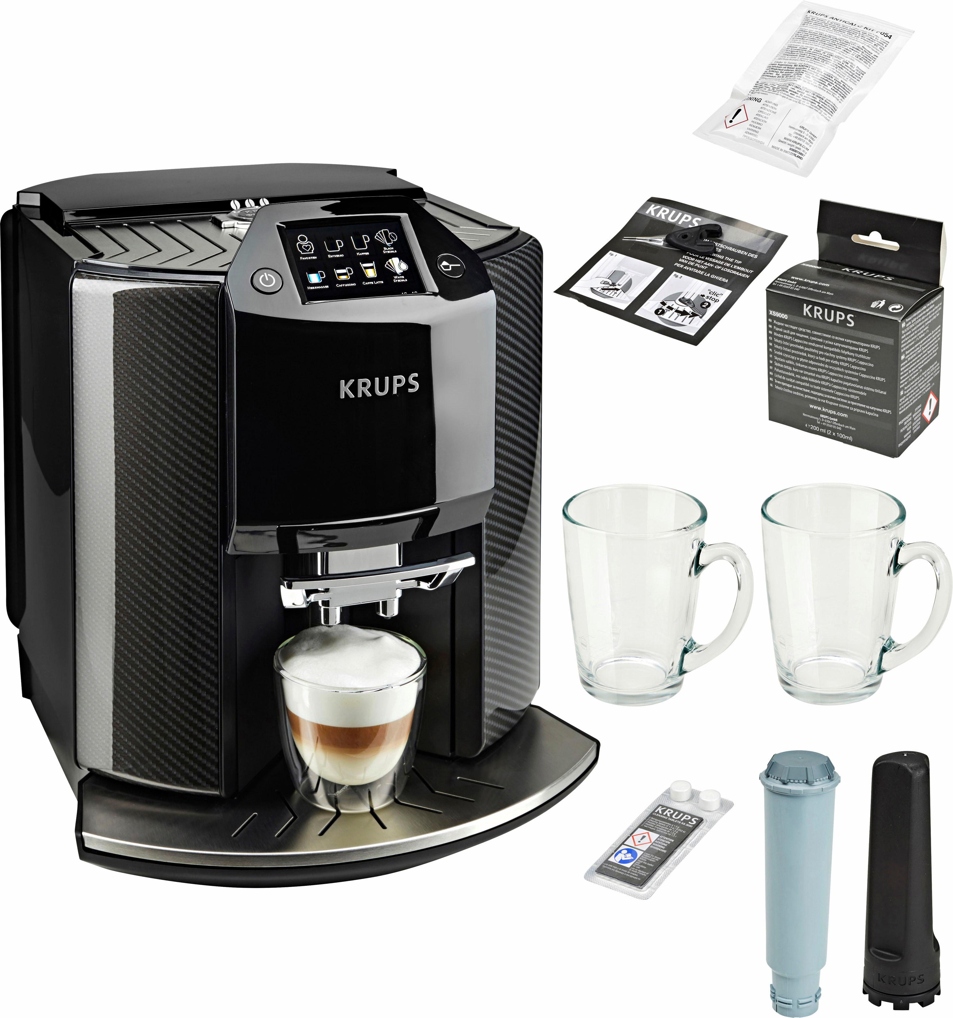 Krups Kaffeevollautomat EA9078 Barista New Age, Carbon, Espresso-Vollautomat, 1,9l Tank, Kegelmahlwerk | Küche und Esszimmer > Kaffee und Tee > Kaffeevollautomaten | Schwarz | KRUPS