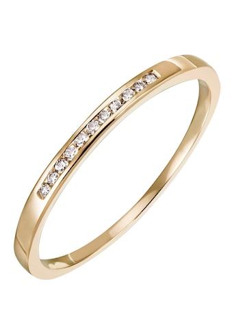 Firetti Diamantring »Feminin, ca. 1,80 mm breit, Kanalfassung, Glanz, massiv«, mit Brillanten kaufen