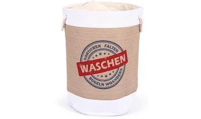 Franz Müller Flechtwaren Wäschebox »Krims Krams«, rund kaufen