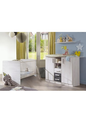 Babymöbel-Set »Bergamo«, (Spar-Set, 2 tlg.), Bett + Wickelkommode kaufen
