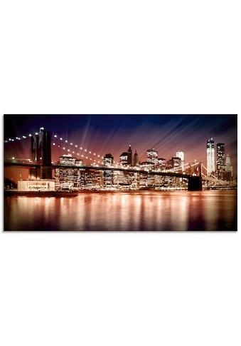 Artland Glasbild »Manhattan Sonnenuntergang«, Brücken, (1 St.) kaufen