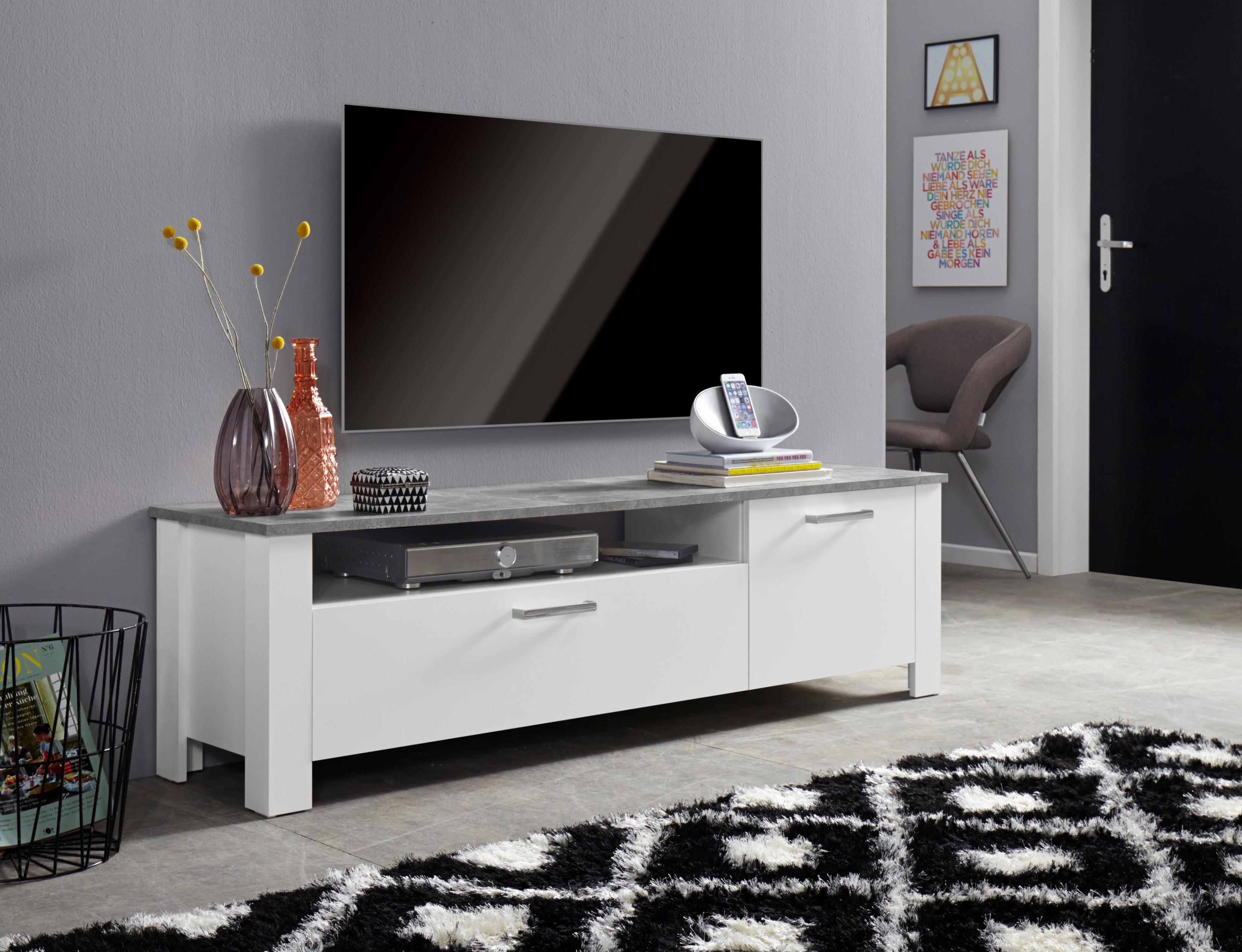 Homexperts Lowboard »Zabona«, Breite 165 cm günstig online kaufen