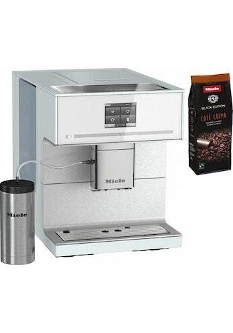 Miele Kaffeevollautomat CM7350 Brillantweiß, 2,2l Tank, Kegelmahlwerk kaufen