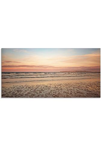 Artland Glasbild »Sonnenuntergang im Watt« kaufen