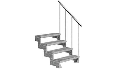 DOLLE Außentreppe »Gardentop«, für Geschosshöhen bis 88 cm, Gitterroststufen 80 cm kaufen