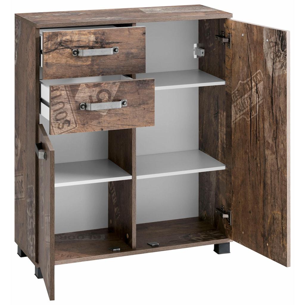 Schildmeyer Badkommode »Milan«, Breite 80,5 cm, mit 2 Türen, 2 Schubladen & Metallgriffen