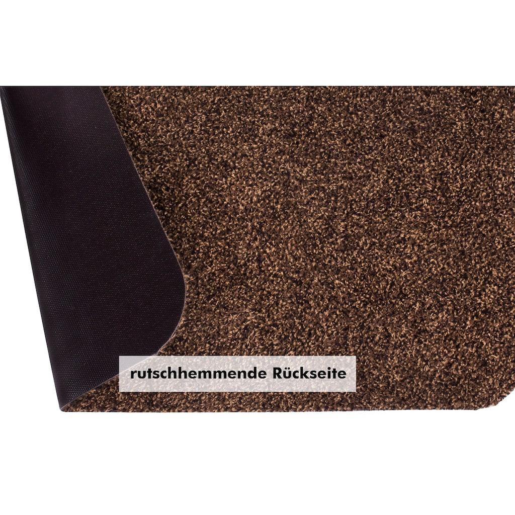Andiamo Fußmatte »Samson«, rechteckig, 6 mm Höhe, Schmutzfangmatte, Innen- und überdachten Außenbereich geeignet, waschbar mit rutschhemmender Unterseite