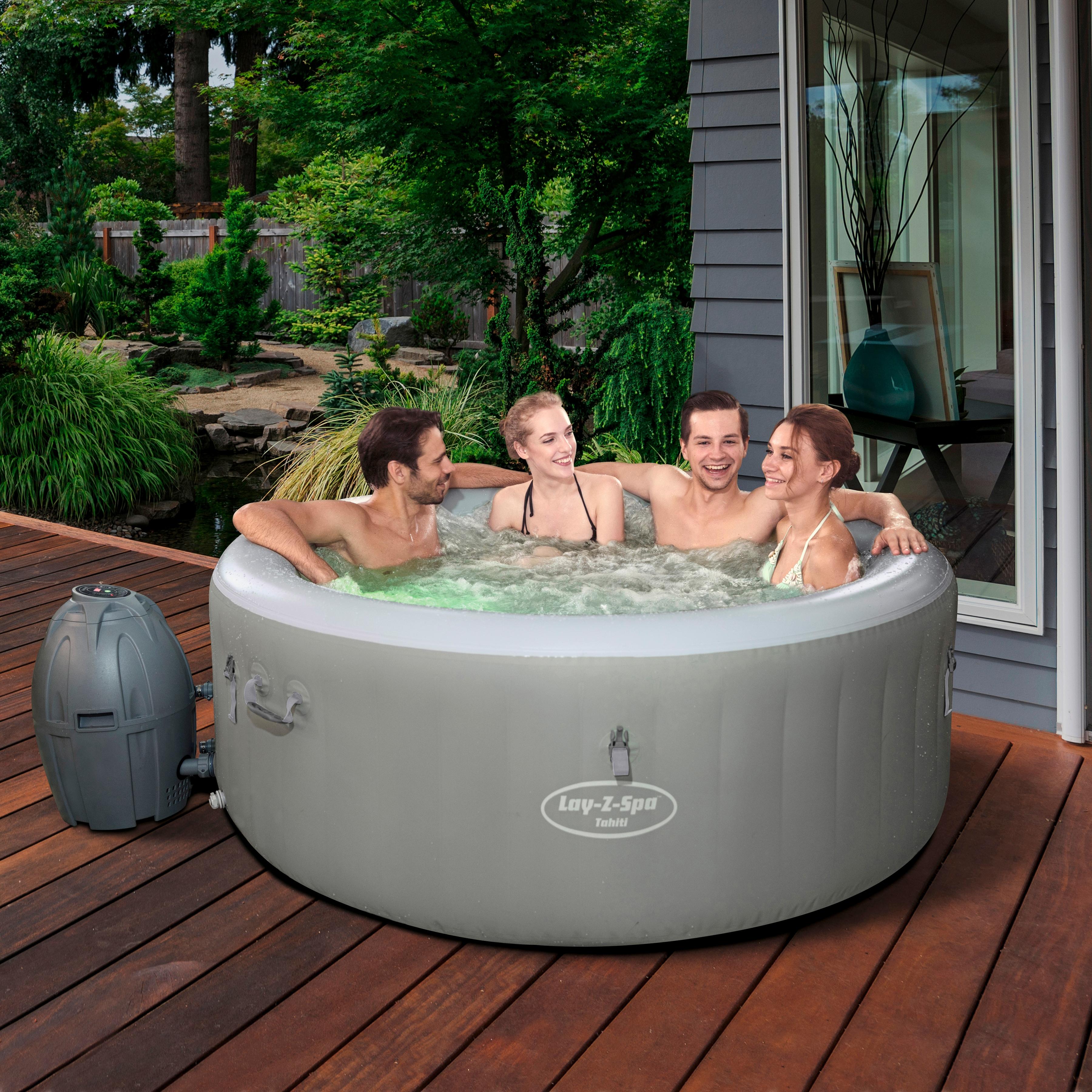 BESTWAY Set: Whirlpool »Lay-Z-Spa™ Tahiti AirJet™«, 6-tlg., ØxH: 180x66 cm   Bad > Badewannen & Whirlpools > Whirlpools   Bestway