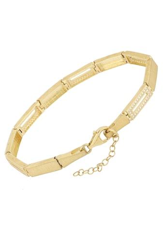 Firetti Armband »Rechteckige Glieder, vergoldet, Glanz im Wechsel, satiniert, strukturiert, massiv« kaufen