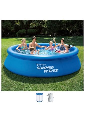 SummerWaves Rundpool, (Set, 3 tlg.), ØxH: 366x76 cm kaufen