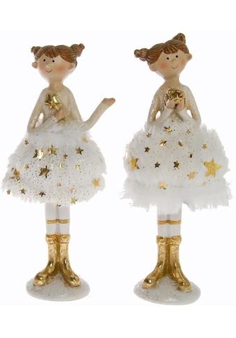 Weihnachtsfigur »Ballerinen mit Röckchen im Feder - Look« (Set, 2 Stück) kaufen