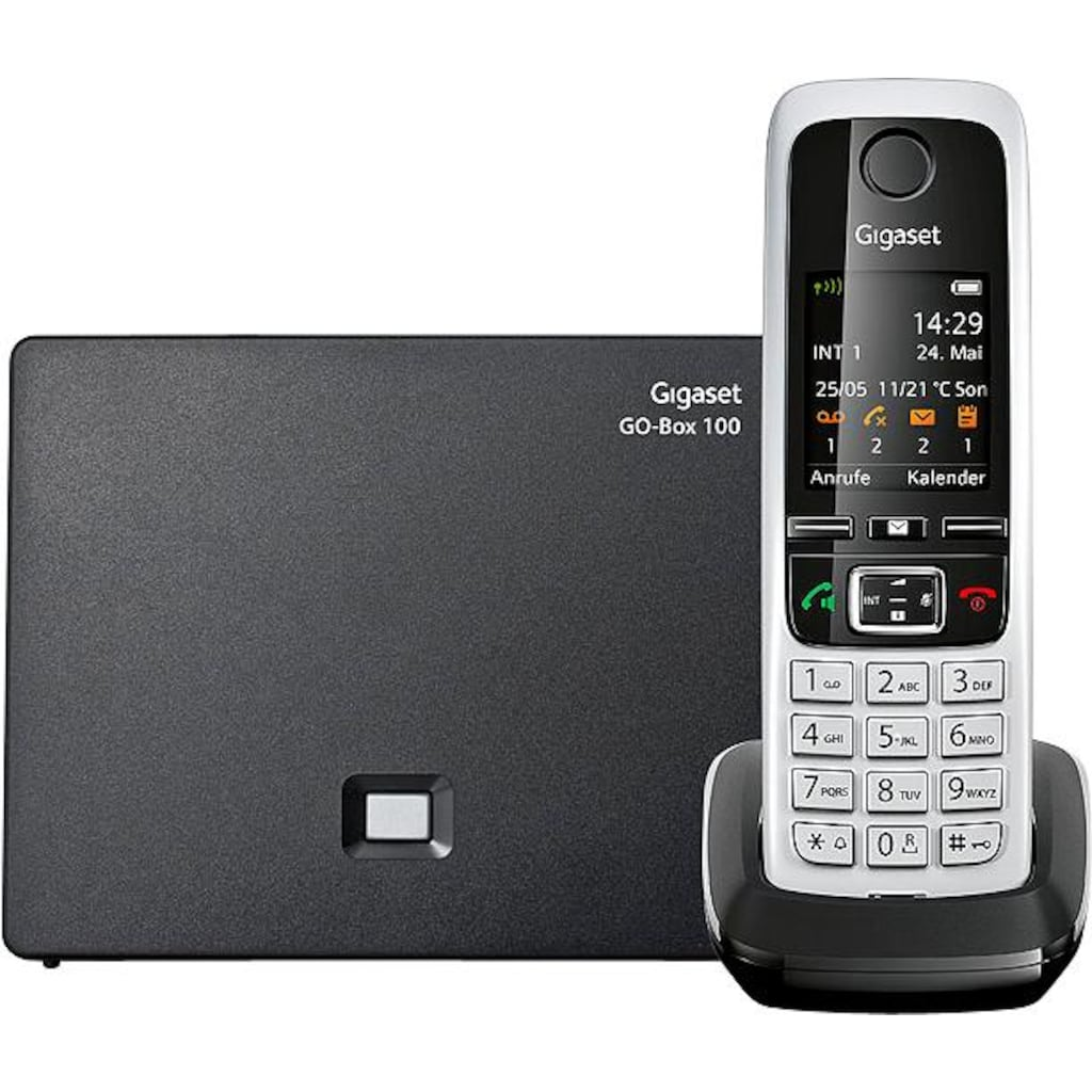 Gigaset Schnurloses DECT-Telefon »C430 A«, (Mobilteile: 1 ), Anrufbeantworter, Weckfunktion, Wahlwiederholung