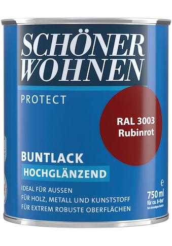 SCHÖNER WOHNEN-Kollektion Lack »Protect Buntlack«, hochglänzend, 750 ml, rubinrot RAL... kaufen