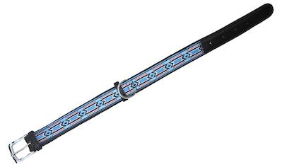 HEIM Hunde-Halsband »Indigo«, Echtleder, blau/schwarz, Länge: 50-60 cm kaufen
