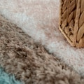 Paco Home Hochflor-Teppich »Palma 335«, rechteckig, 45 mm Höhe, Hochflor-Shaggy mit 3D-Muster