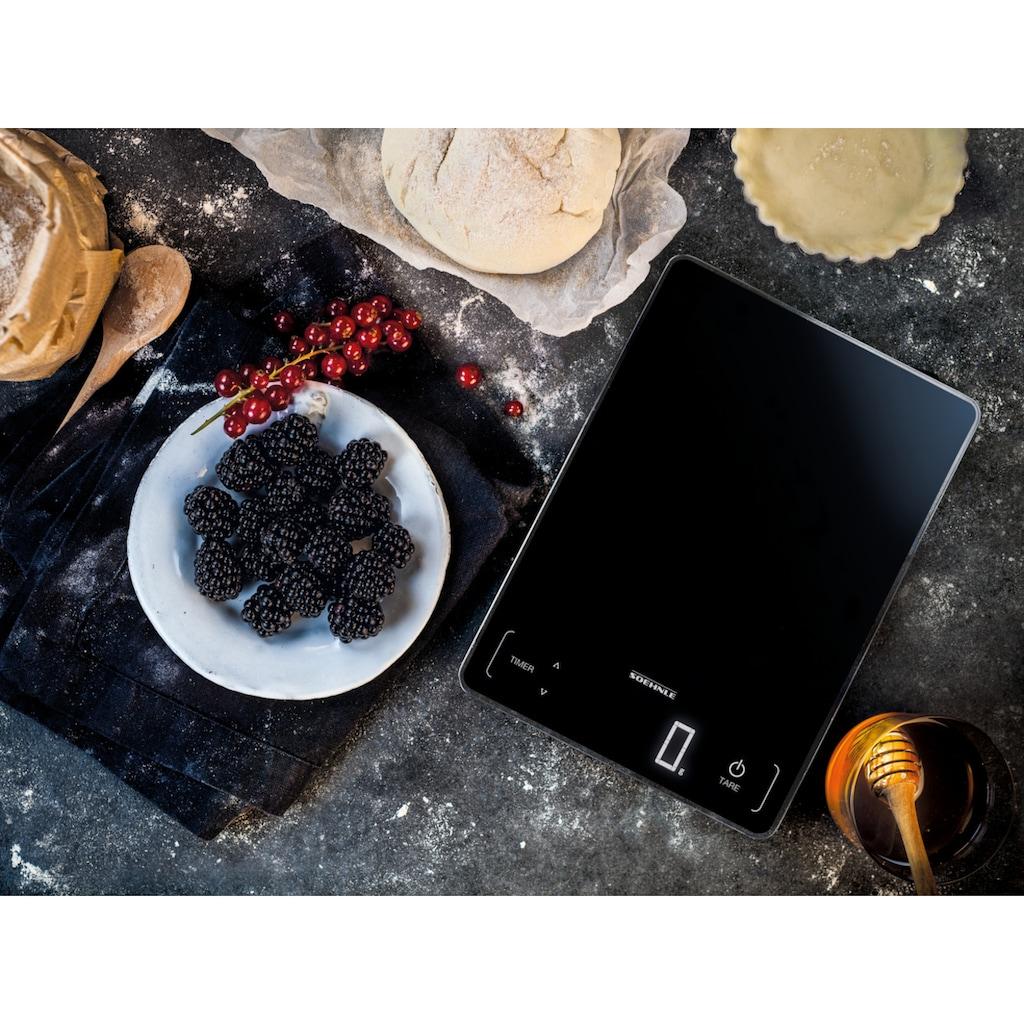 Soehnle Küchenwaage »Page Profi 100«, mit Sensor-Touch und Küchentimer, Tragkraft bis zu 15 kg, 1 g genaue Teilung